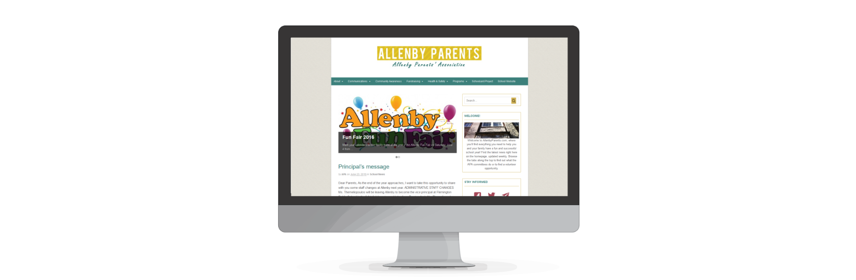 AllenbyParents, web design by www.puzzleboxcommunications.com