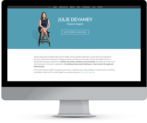 juliedevaney website design and development by www.puzzleboxcommunications.com