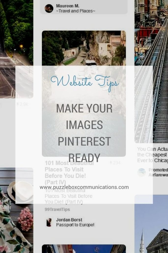 Make Your Images Pinterest Read by puzzleboxcommunications.com