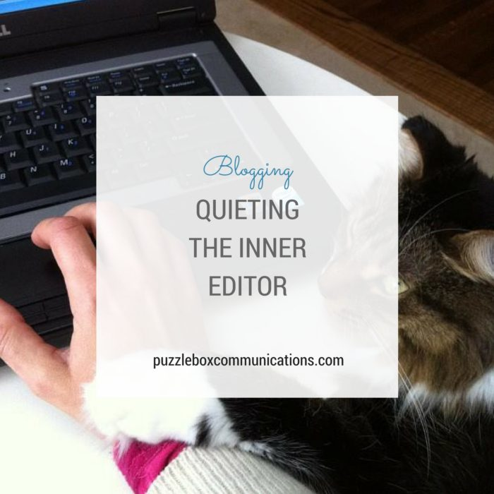 Quieting the Inner Editor, bloggin, www.puzzleboxcommunications.com