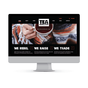 TeaRebellion.com, WordPress development, WooCommerce e-Commerce