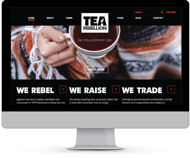 tearebellion.com, WordPress website development, WooCommerce e-Commerce