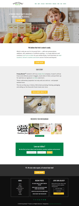 Web Design and Development for FressyBessie.com