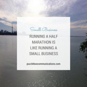 Running a Small Business Is Like Running a Half Marathon, www.puzzleboxcommunications.com