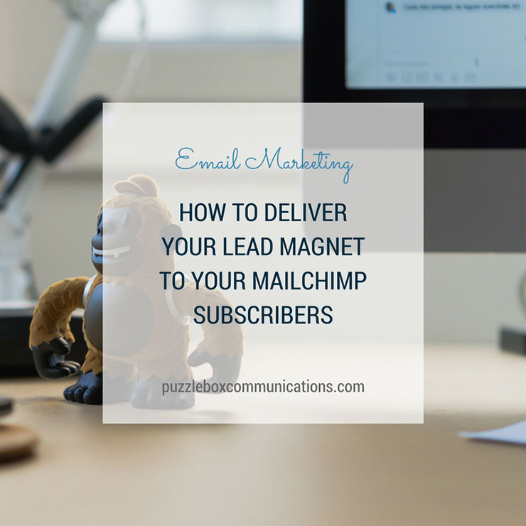 How to deliver your lead magnet to your MailChimp subscriber by puzzleboxcommunications.com